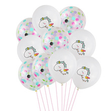 12inch Unicorn Latex Balloons Party Birthday Decoration Confetti Ballons Baby Shower Supplies