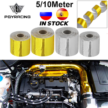 """A Gold 2"""" Thermal exhaust Tape Air Intake Heat Insulation Shield Wrap Reflective Heat Barrier Self Adhesive Engine 2 Inch 5/10M"""