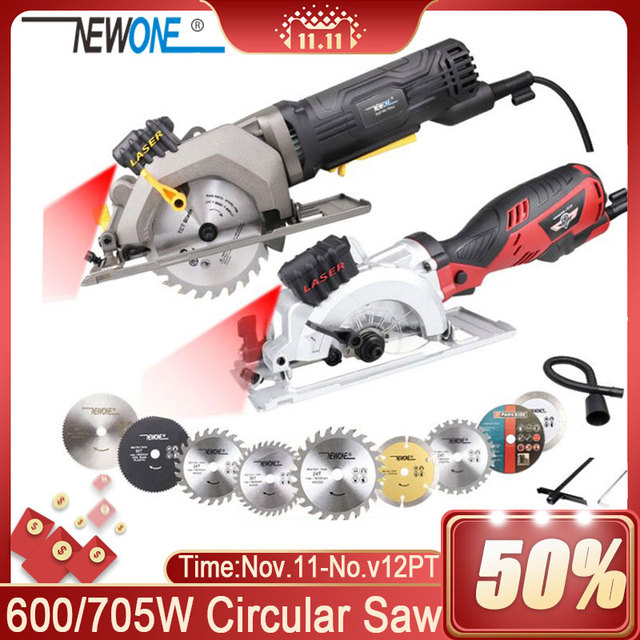 120V/230V 600W/705W Electric Power Tool Electric Mini Circular Saw With Laser multi function Saw For Cutting Wood,PVC Tube, Tile