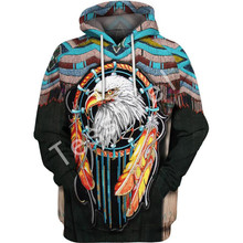 Tessffel folk-custom native culture animal New Fashion Harajuku casual 3D Printed Hoodie/shirts Mens Womens hiphop funny style-1