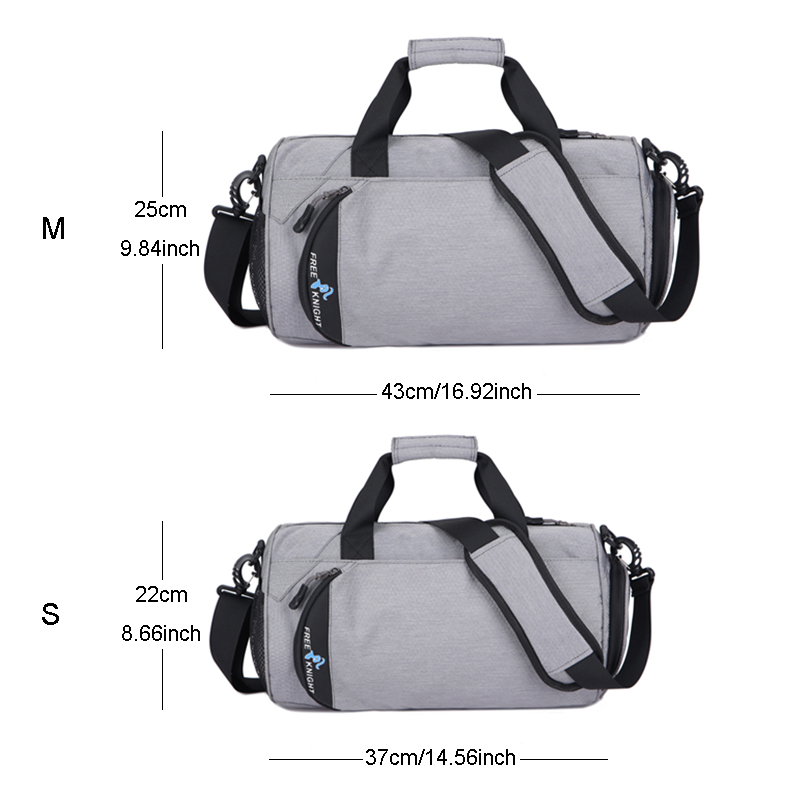 Waterproof Sports Gym Bags, Multifunction Dry Wet Separation Bags, Fitness Training Yoga Shoulder Bag With Shoes Bags 3 Colors