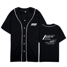 Kpop ATEEZ A TEEnager Z Album All To Zero Cardigan Button Loose Tshirt T Shirts Short Sleeve Tops T-shirt PT1106(China)