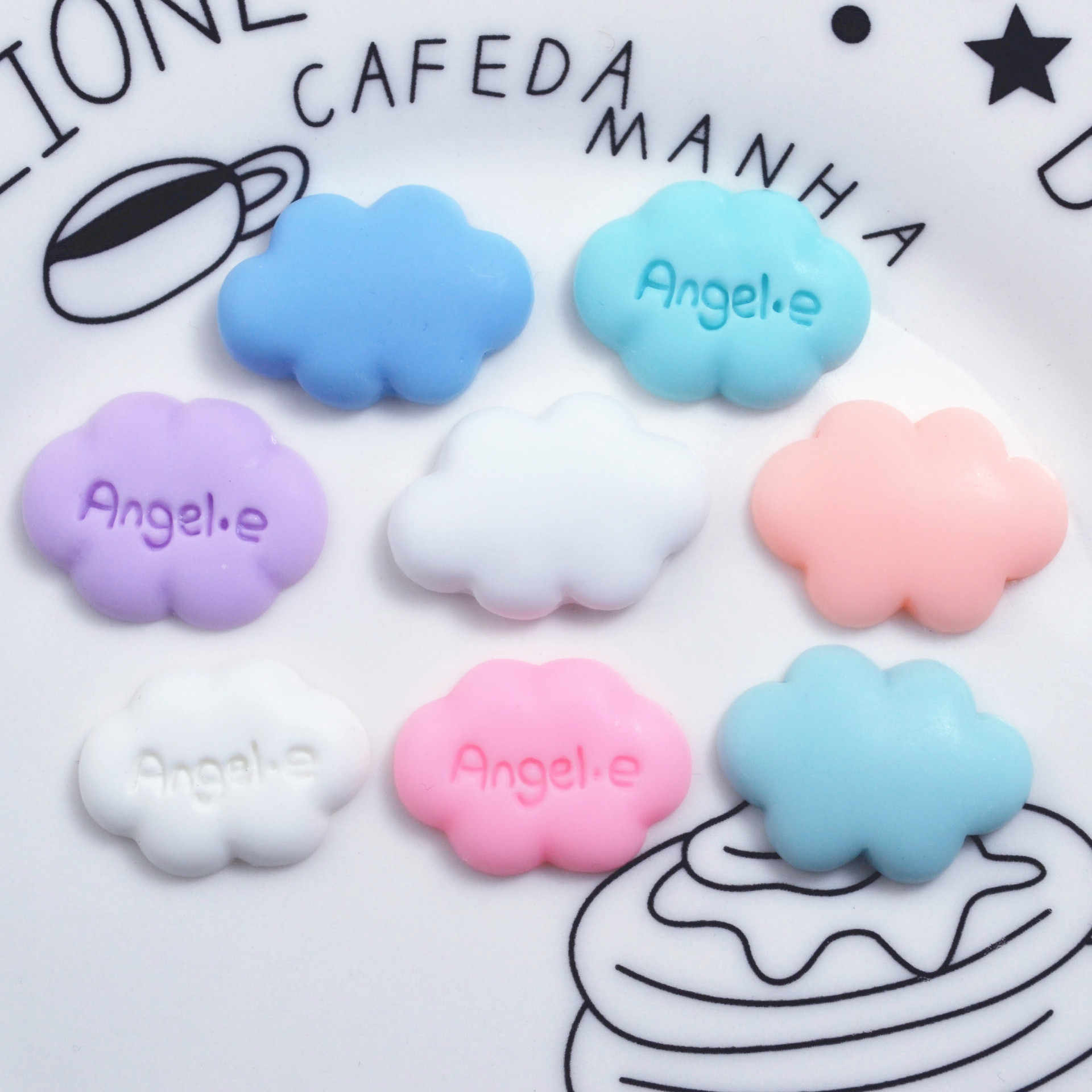 10pcs Cloud Angel Slime Charms Resin Toys Plasticine Slime Accessories Beads Making Supplies For DIY Scrapbooking Crafts