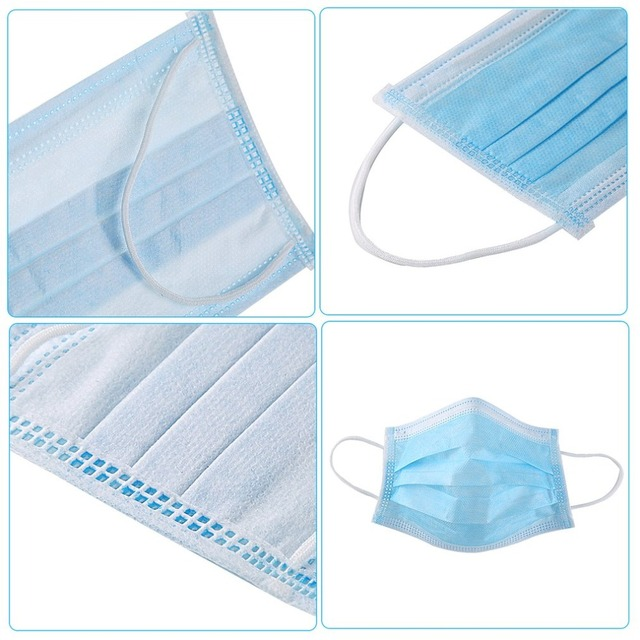 50pcs/10pcs mondkapjes Disposable 3ply Fabric Facemask Hygiene Anti Flu Dust Pollution Filter Face Mask Health Mouth Masks 4