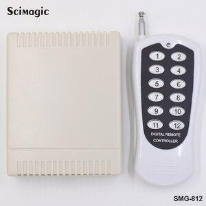 Image 2 - 433MHz Wireless Telecomandi e Controlli da remoto RF Trasmettitore 12 Bottoni Lavora con 433MHz Relè Ricevitore