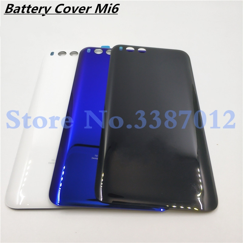 <font><b>Original</b></font> Rear Back Housing For <font><b>XIAOMI</b></font> <font><b>Mi6</b></font> Mi 6 Glass Back <font><b>Cover</b></font> <font><b>Battery</b></font> Door For MI <font><b>Mi6</b></font> Replacement Parts image