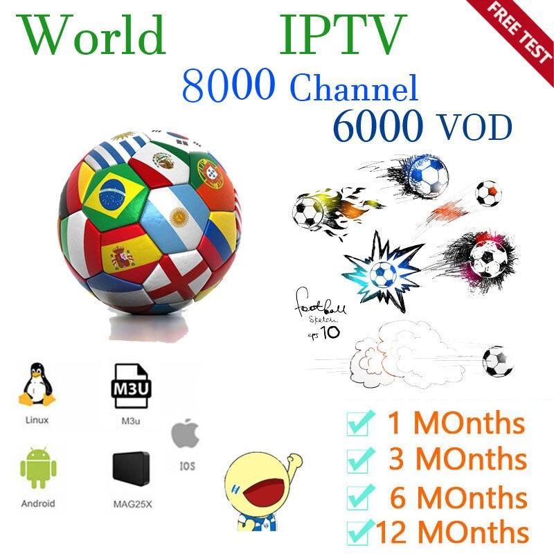 World IPTV  8000 Live 6000 VOD IPTV  Ssmarters IPTV IPTV USA  Europe Subscription With  TV  For M3u Android Enigma2 Ssmart TV PC