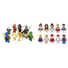 Девочка кукла ниндзя строительный блок игрушки наборы мини кукла модель друзья дети подарок игрушки совместимы с lego