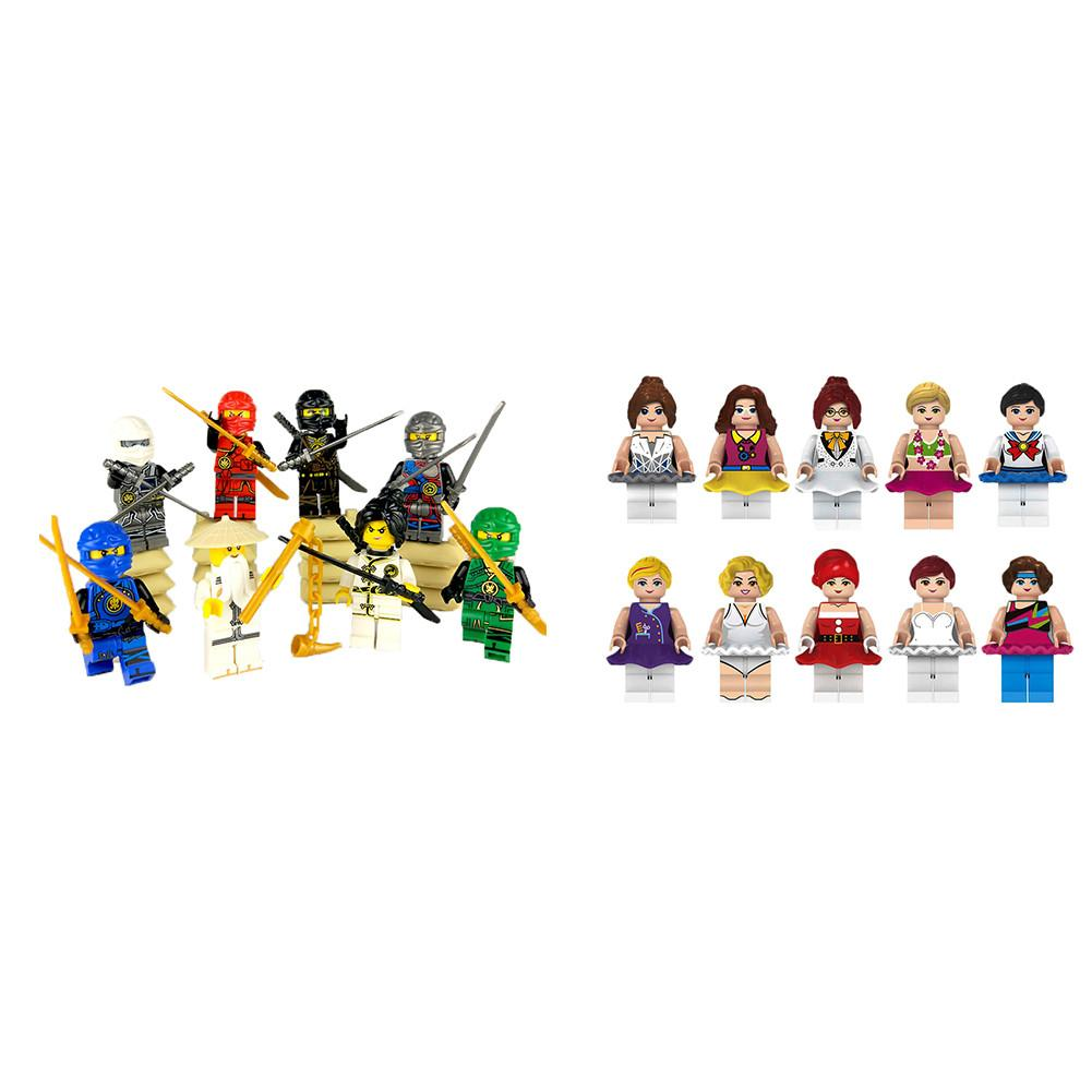 Girl Doll Ninja Building Block Toy Sets Mini Doll Model Friends Children Gift Toys