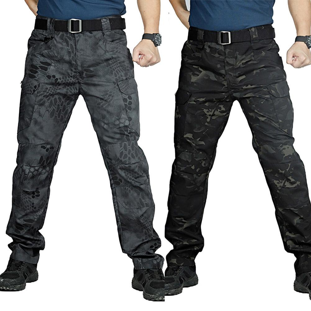 Men Camo Multi-Pockets Quick Dry Outdoors Sports Tactical Trousers Cargo Pants