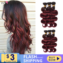 Wome Pre-colored Malaysian Body Wave Ombre Human Hair