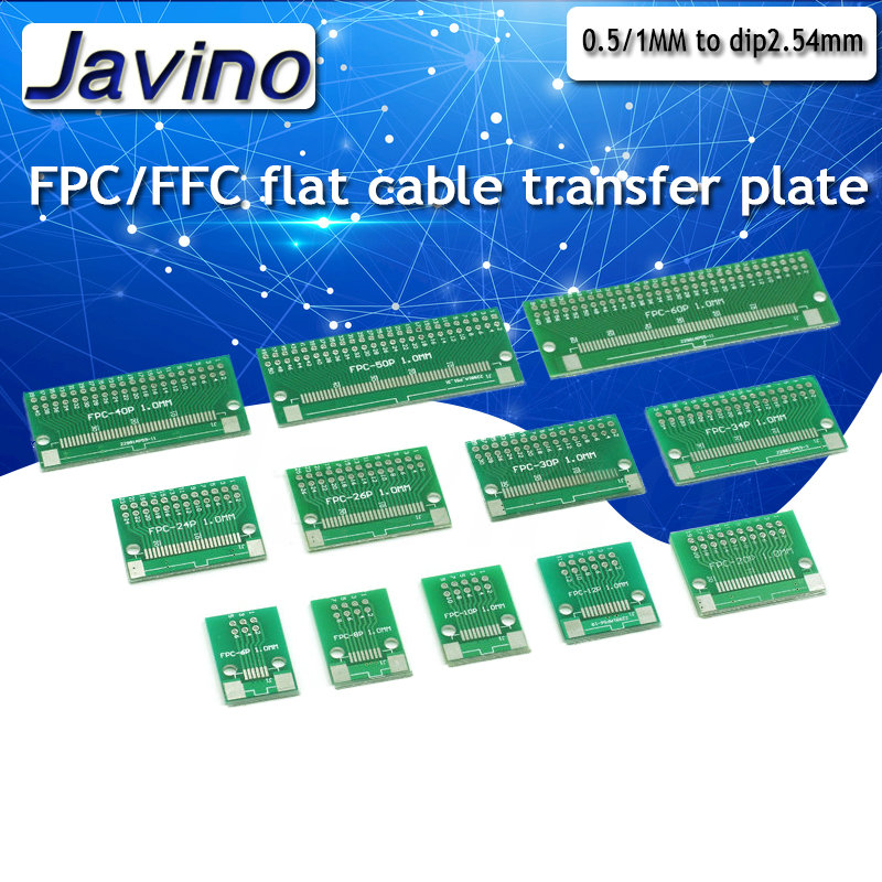 FFC FPC 20 Pin 0.5mm 1.0mm to DIP 2.54mm PCB Converter Board Double Side Adapter