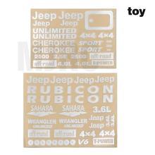 wrangler Jeep stickers for Traxxas trx4 Defender Bronco Ranger AXIAL SCX10 D90 D110 TAMIYA CC01 Hliux TOYOTA LC70 LC80 FJ40