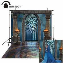 Allenjoy photophone tło fotografia studio fantasy Halloween magiczne okno ogień umywalka bajka tło pałac photocall