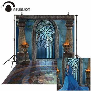 Image 1 - Фотофон Allenjoy для студийной фотосъемки фантазия Хэллоуин волшебное окно огонь раковина Сказочный фон дворец фотосессия