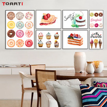 Delicious Cupcake Bread Canvas Painting Donut Wall Art Poster&Prints Modular Picture For Kitchen Dining Room wall Decor