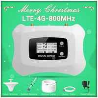 Chaud! Répéteur de Signal cellulaire 4G LTE 800MHz amplificateur de téléphone portable 4g avec kit d'antenne de plafond Yagi +