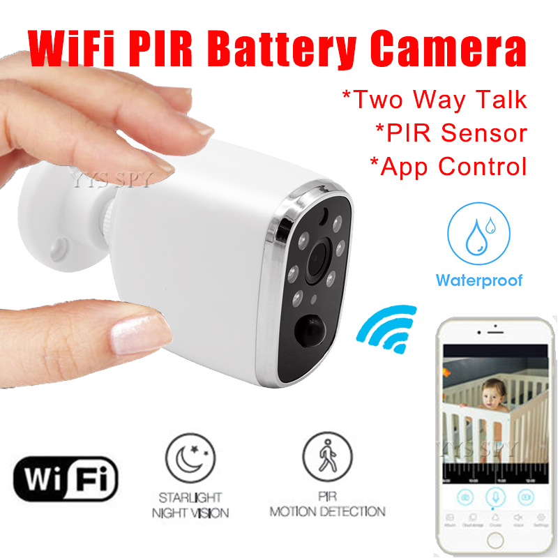 Wifi IP Mini Camera Surveillance Webcam PIR Night Vision Motion Sensor 720P HD Video Two Way Voice Secret Camcorder Nanny Cam image