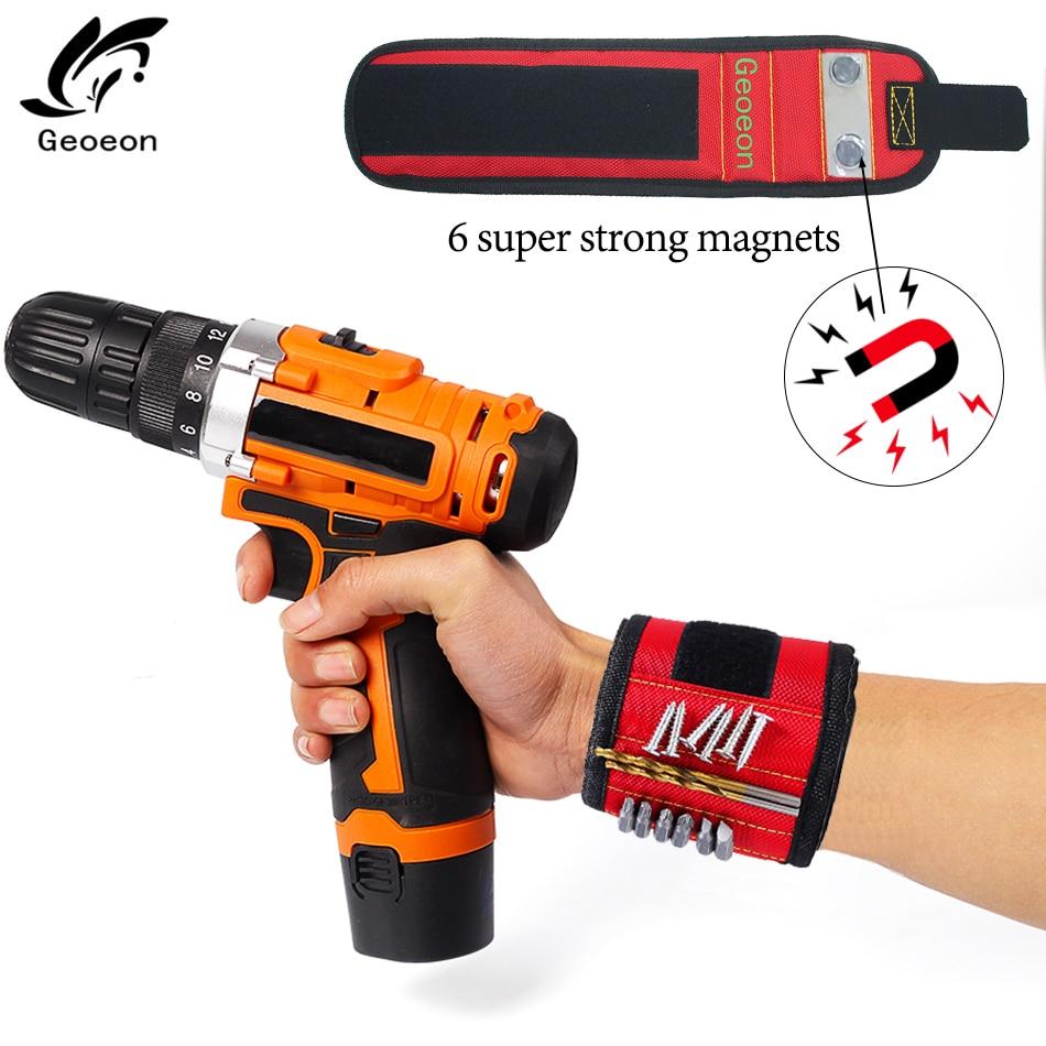 Magnetic Wristband Portable Tool Bag Electrician Wrist Tool Belt Screws Nails Drill Bits Holder Repair Tools A30