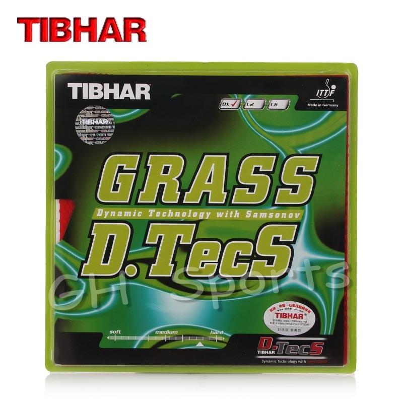 TIBHAR GRASS D.TECS (1.2 / 1.6 / OX, Defensive / Chop) Pips-long Table Tennis Rubber Ping Pong Sponge 5.0