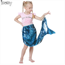 Kids Children Reversible Sequins Mermaid Tail Blanket Throw Bed Wrap Super Soft Sleeping Bed Costume Blankets Drop Shipping super soft kintted sofa bed wrap mermaid blanket