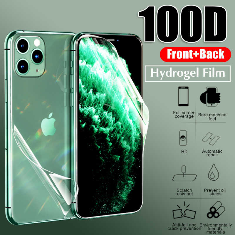 20D Front+Back Protective Hydrogel Film Full Cover For IPhone X XR XS 11 Pro Max 8 7 6 6s Plus Screen Protector Film Not Glass