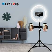10inch LED Ring Lamp With Tripod Stand Selfie light Photo Studio Light 3-Phone Holder USB Make Up Youtube Photography Light(China)