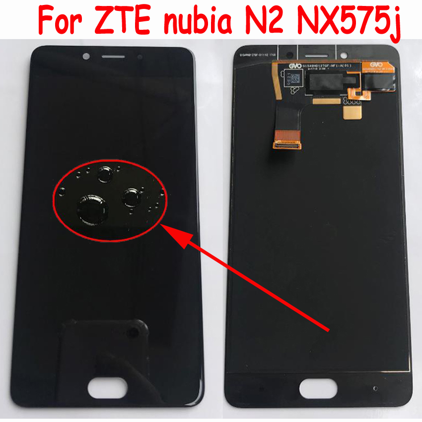 """Original Best Working AMOLED LCD Display Touch Screen Digitizer Assembly Sensor For 5.5"""" ZTE Nubia N2 NX575J MT6750 Glass Panel(China)"""