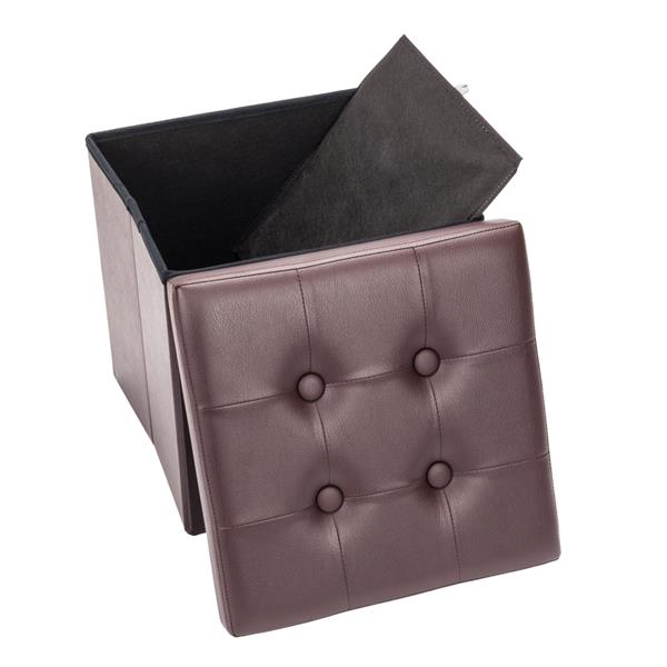Storage Stool folding chairs Change shoe bench Footstool PVC Leather Square Shape Footstool