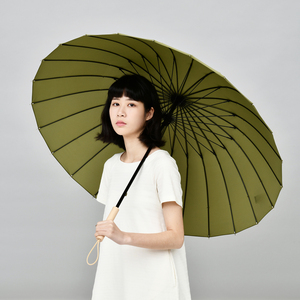 Image 4 - Tiohoh 24 k 긴 우산 비 여자 강한 windproof 일본식 단풍 나무 우산 남자 파라과이 골프 명확한 우산 큰