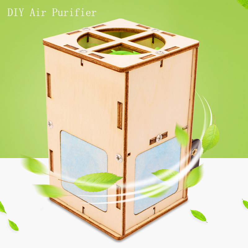 Purificador de aire de madera para niños, juguetes educativos de ciencia, Kits de tecnología 2020