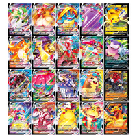 Juego de colección de cartas Pokémon, colección de cartas brillantes, regalo para chico, versión francesa, 60V, 40VMAX, 100 Uds.