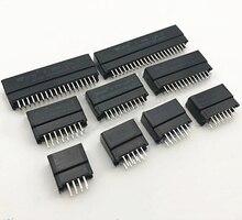 Коннектор для Edge-карты, слот 2,54 мм, Шаг 8/10/12/16/18/20/28/30/36/40/50/60/72/80/98, золотистый штырьковый разъем PCB отверстия