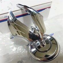 Подлинная капот Толстовка знак эмблема значок для Ssangyong Chairman 2012+ передняя крышка двигателя стоящий Крылья Логотип