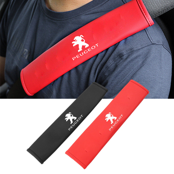 Car Safety Belt Covers Case for Peugeot 2008 4008 5008 308 408 508 205 206 208 3008 103 106 307 406 407 107 207 301 Accessories image