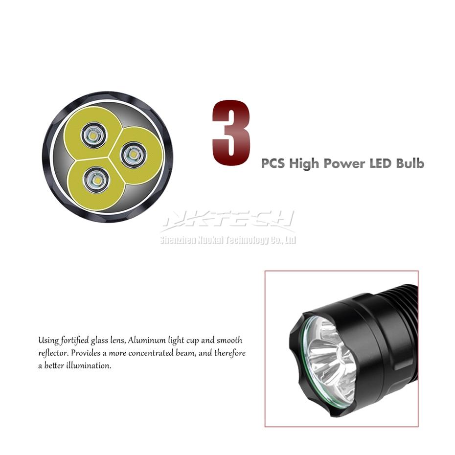 Lumens 3x 5-Modos Torch Super Bright Lâmpada