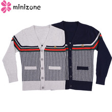 лучшая цена Autumn Children's Clothes Girls Sweaters Casual Plaid Long Sleeve Baby Boys Girl Knitted Cardigan Sweaters For Girls Big Kids MM