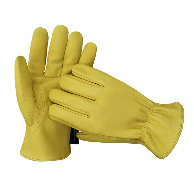Work Gloves Full Leather Driving Gloves Men Motorcycle Gardening Safety Protective Fruit Picking Gloves Olson Deepak