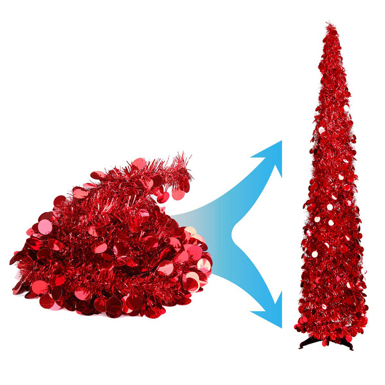 Manufacturers Direct Selling 1.5m Christmas Tree Christmas Decoration Retractable Folding Christmas Tree PVC Model Customizable