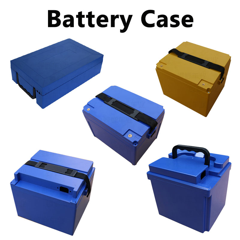 GTK 48v 60v 72v battery box ABS+PC Waterproof case 18650 26650 lithium battery case motocycle ebke