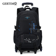 Latest Removable Children School Bags 2/6 Wheels Stairs Kids boys girls backpacks  Trolley Schoolbag with Luggage Book Ba