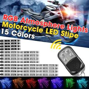 12 Strips RGB LED Car Motorcyc
