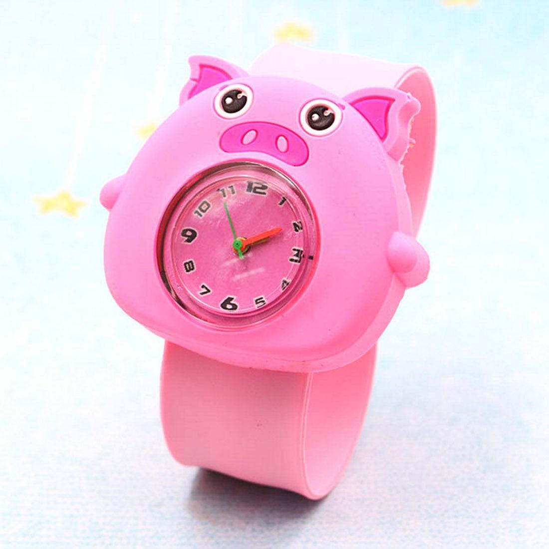 Cute Waterproof  Cartoon Silicone Children WatchChildren Toddler Wrist Watch Gift For Girl Boy Student