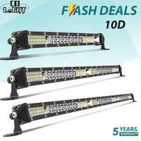 CO lumière 10D 10 20 30 pouces 52W 104W 156W LED barre de lumière de travail Combo 4x4 barre de lampe LED tout-terrain pour tracteur bateau 4WD 4x4 camions ATV