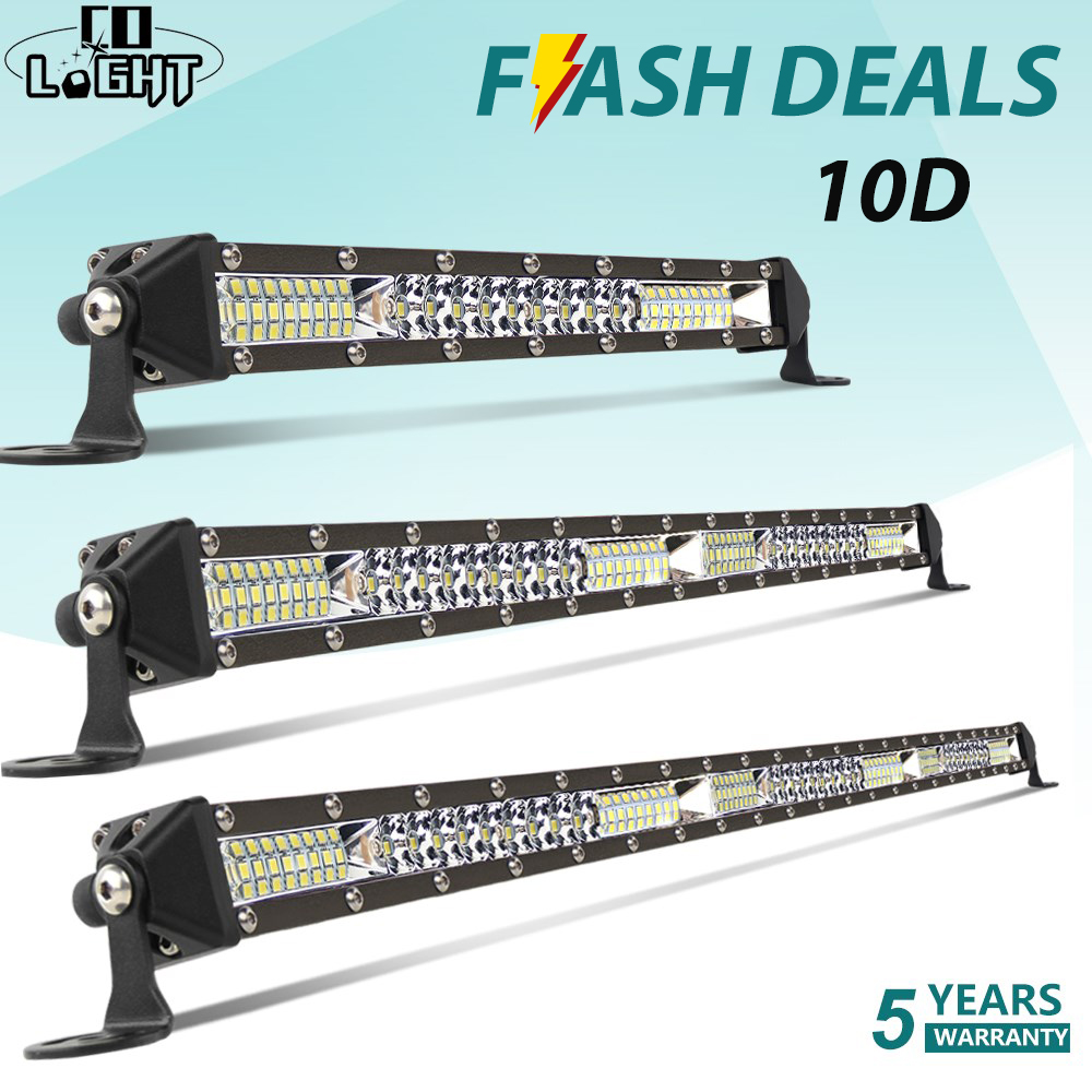 CO LIGHT 10D 10 20 30 inch 52W 104W 156W LED Work Light Bar Combo 4x4 Offroad for Tractor Boat 4WD Trucks ATV