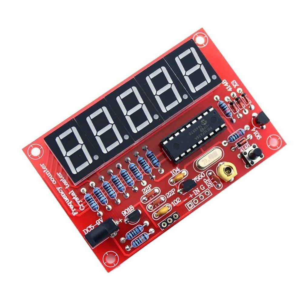 1 Гц-50 МГц цифровой светодиодный осциллятор тестер счетчик частоты радиочастотный электронный DIY Набор инструментов Модуль платы блока про...