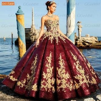 Vestido de novia árabe con purpurina, encaje, lentejuelas, apliques, hecho a medida,...