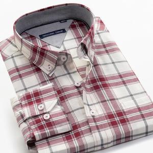 Image 2 - حجم كبير 5XL 6XL 7XL 8XL 9XL 10XL 2020 الرجال طويلة الأكمام 100% تي شيرتات قطن الأعمال فضفاض عادية قمصان مربعة النقش الذكور ماركة الملابس