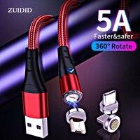 ZUIDID 5A cavo magnetico USB C ricarica Super veloce Micro USB tipo C per iPhone Samsung Xiaomi Huawei cavo di ricarica Android
