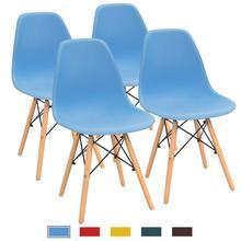 купить Modern Minimalist Home Back Dining Room Chair Nordic Office School Creative Desk Chair Simple Plastic Dining Chair 4 Pcs дешево